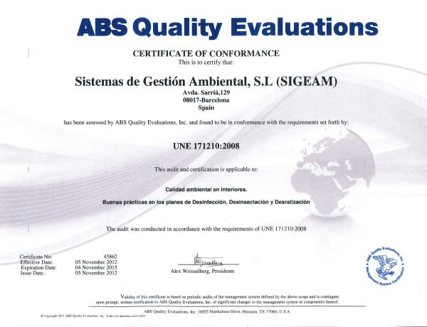 Norma UNE 171210 Certificada SIGEAM S.L.
