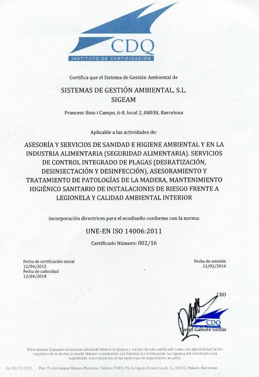 Norma UNE-EN ISO 14006:2011 Incorporación del Ecodiseño